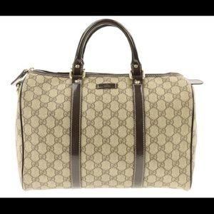 Authentic Boston GG Gucci Canvas Bag with dust-bag